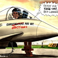 Red Leader; everything Brown does now seems to go wrong. Things are going wrong with the Eurofighter project, just as he launches the local election campaign.