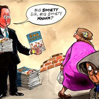 "Big Society; ""er…what's that?"" cries the public."