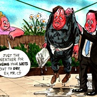"Ken Clarke's plan to offer 50% sentence cuts for early guilty pleas are set to be shelved. The plans were ""as good as scrapped"" after a meeting between Cameron Clarke. This is seen as Cameron trying to appear tough against his ""wet"" Justice Minister."